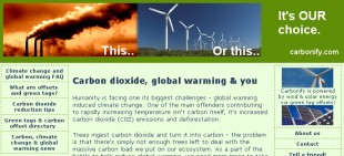 Carbonify - global warming and carbon offsets