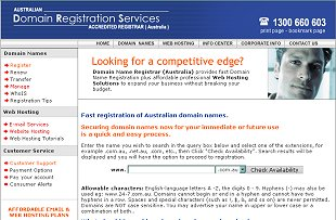 Domain Registration - Australian Domain Names Registrar